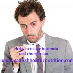 Herbs to reduce insomnia and chronic pain